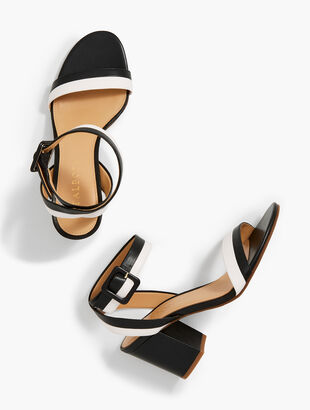 Beatrice Nappa Leather Sandals