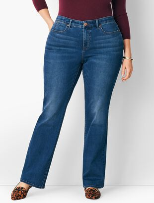 Plus Size High-Waist Barely Boot Jeans - Nestor Wash/Curvy Fit