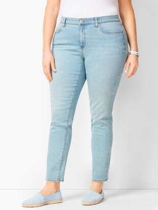 Plus Size Slim Ankle Jeans - Solar Wash