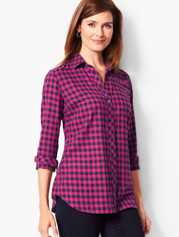 Classic Cotton Gingham Shirt