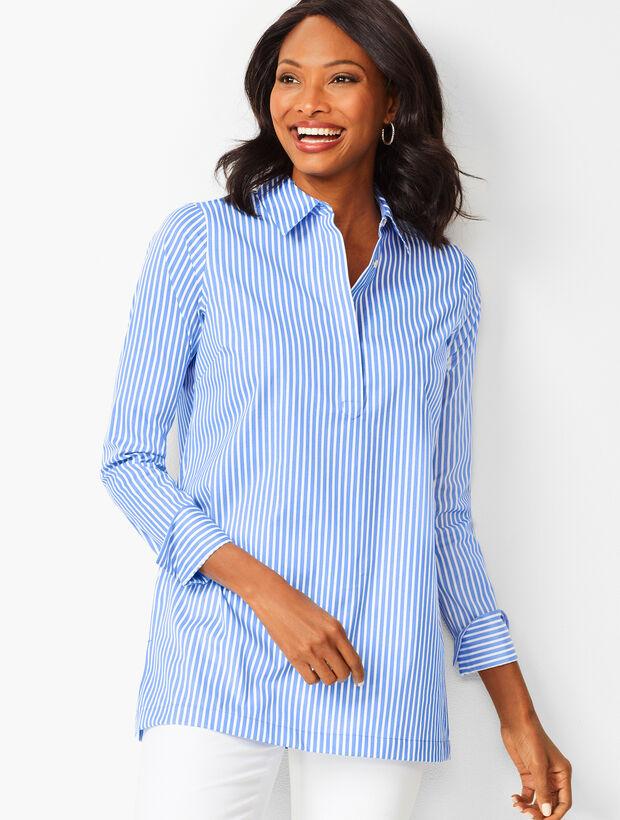 Perfect Button-Back Tunic - Stripe