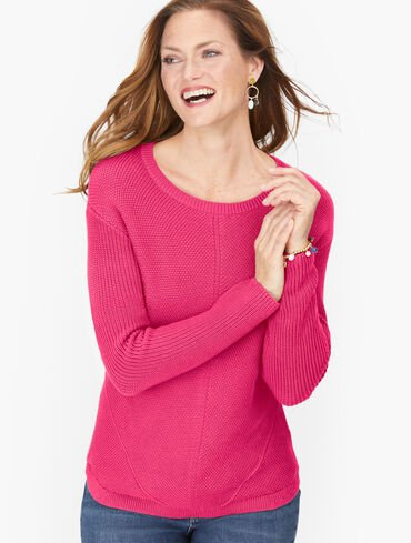 Shaker Stitch Sweater - Solid