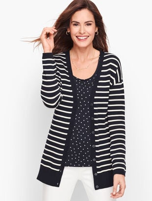 Forever Girlfriend Cardigan - Stripe