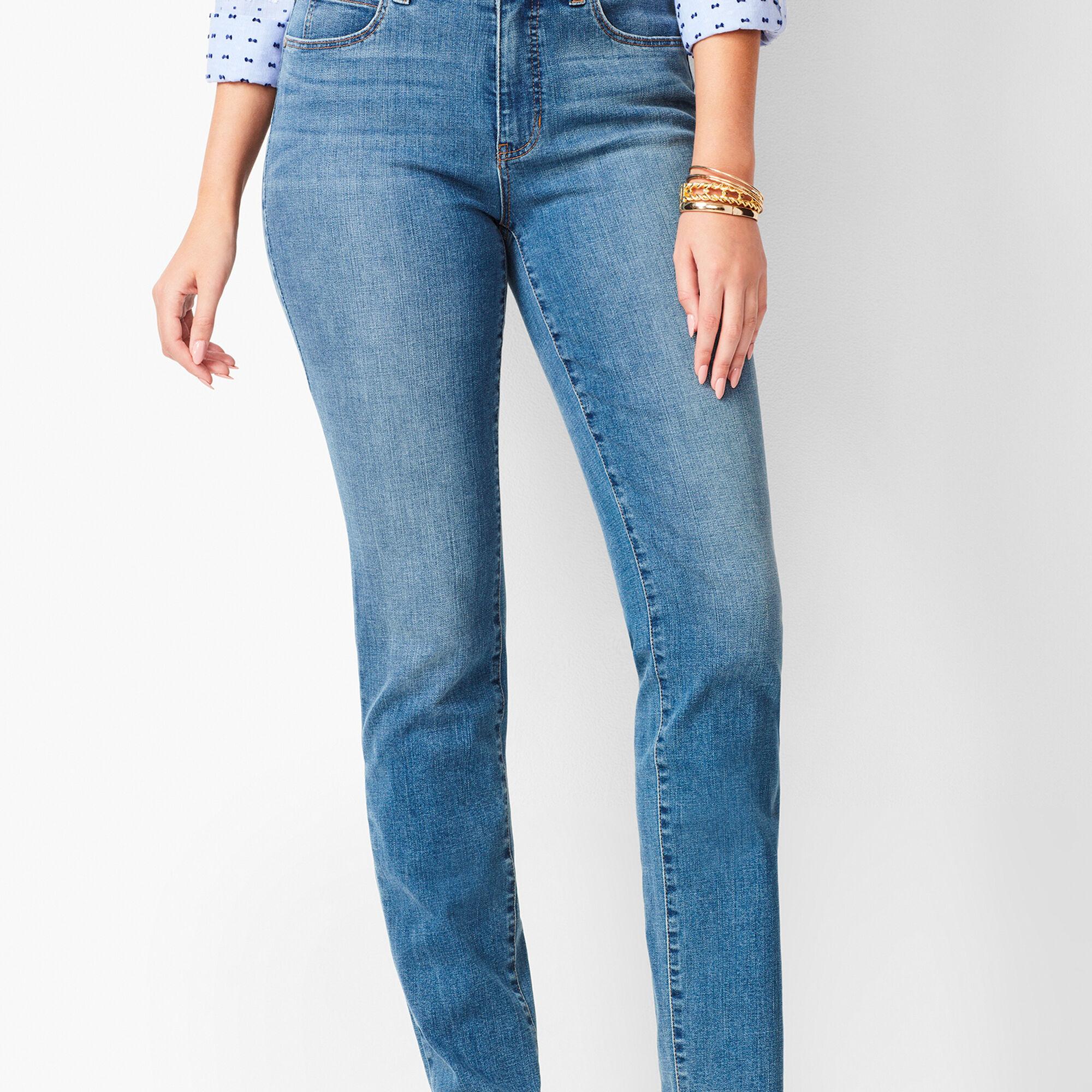 5b9d66edc2f22 Images. High-Waist Straight-Leg Jeans - Curvy Fit - Aurora Wash