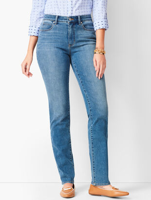 High-Waist Straight-Leg Jeans - Curvy Fit - Aurora Wash