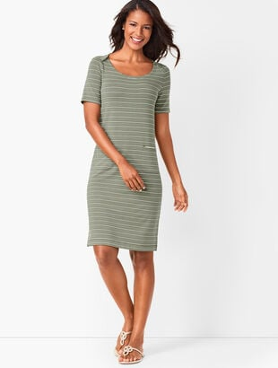 Patch-Pocket Stripe Dress