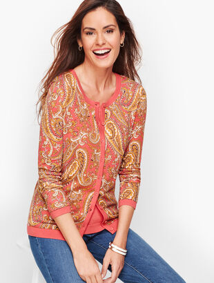 Charming Cardigan - English Paisley