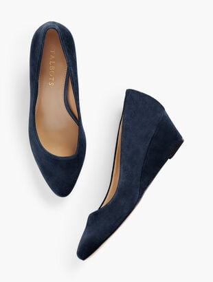 Laney Asymmetrical Wedges - Suede