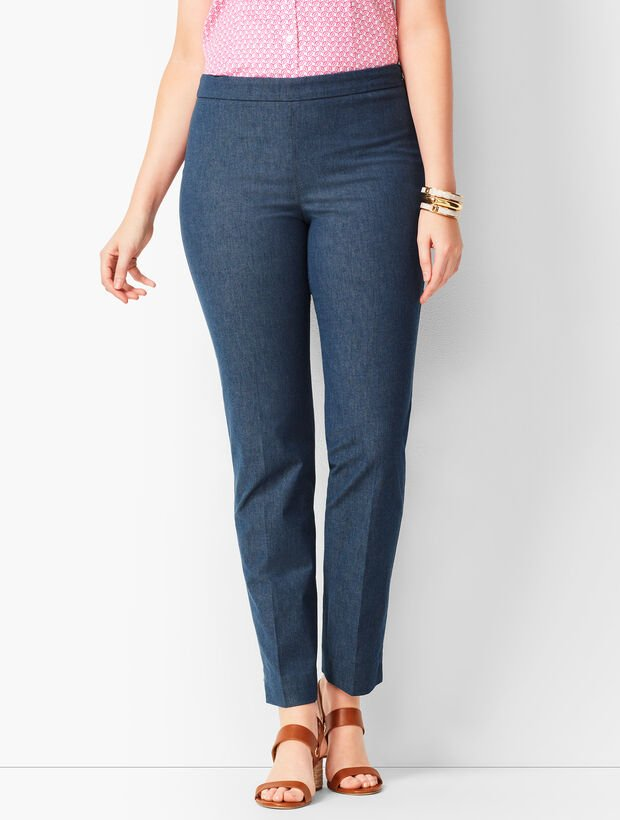 Talbots Chatham Ankle Pants - Curvy Fit - Polished Denim