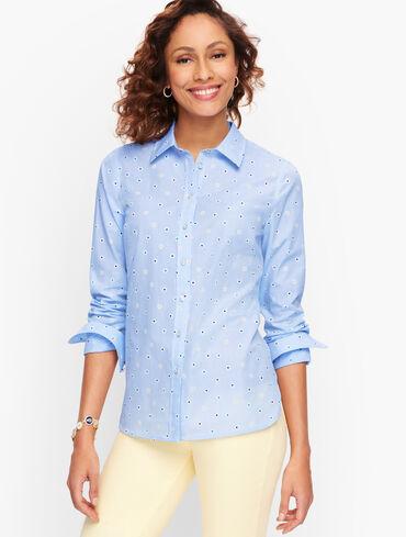 Classic Cotton Shirt - Daisy Stripe