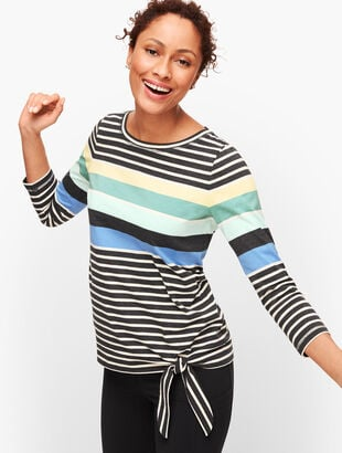 Multi Stripe Side Top