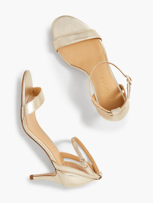 Rosalie Ankle-Strap Sandals - Metallic