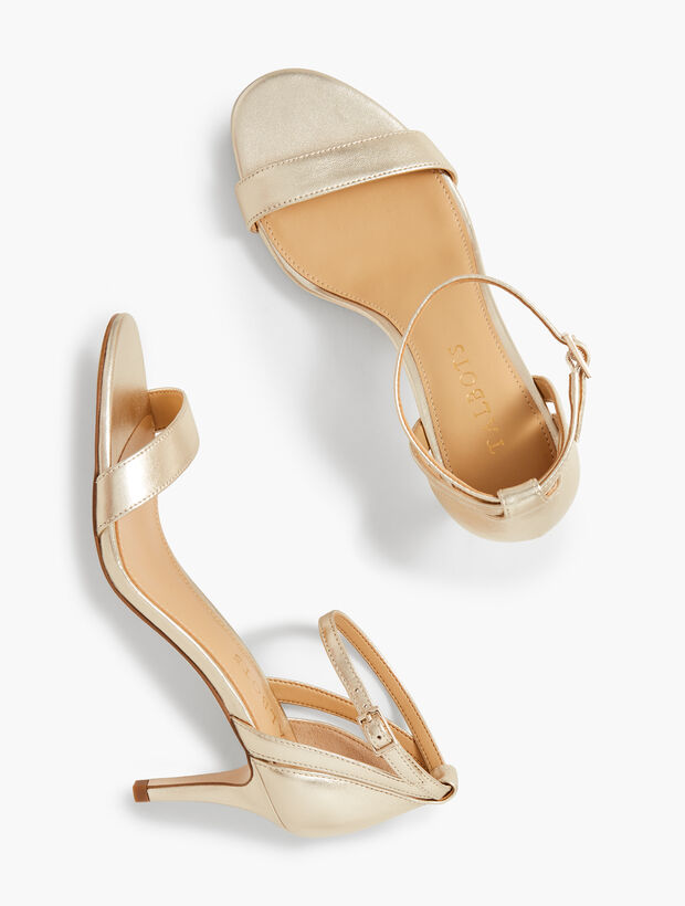 Rosalie Ankle-Strap Sandals - Metallic