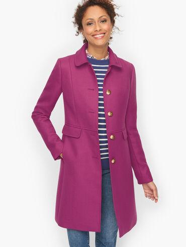 Double Twill Wool Feminine Coat