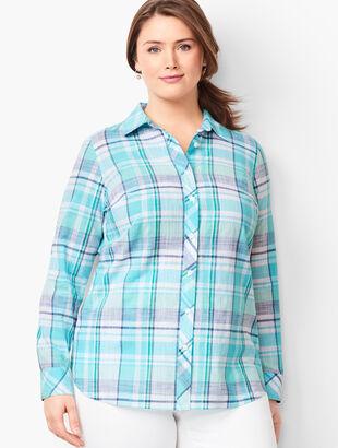 Classic Cotton Shirt - Sea Plaid