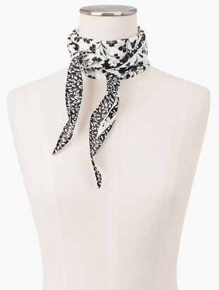 Diamond Mixed Floral Scarf