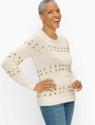 Space Dye Stripe Pullover