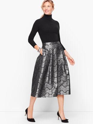 Brocade Flare Skirt
