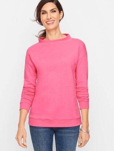 Cotton Blend Drop Shoulder Sweatshirt