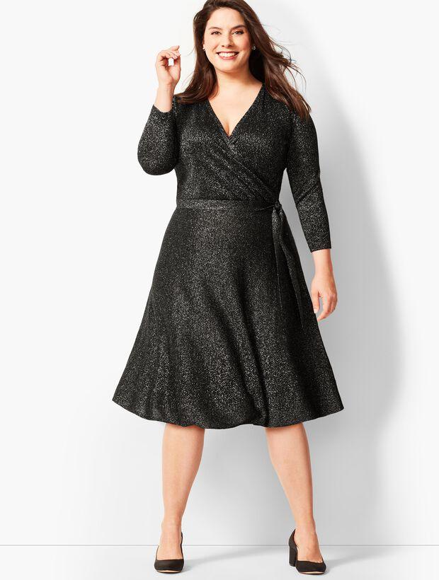 Merino Shimmer Wrap Dress
