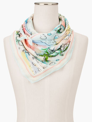 Coastal Beaches Square Scarf