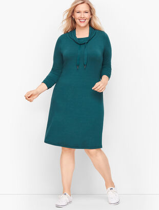 Soft Terry Cowlneck Dress