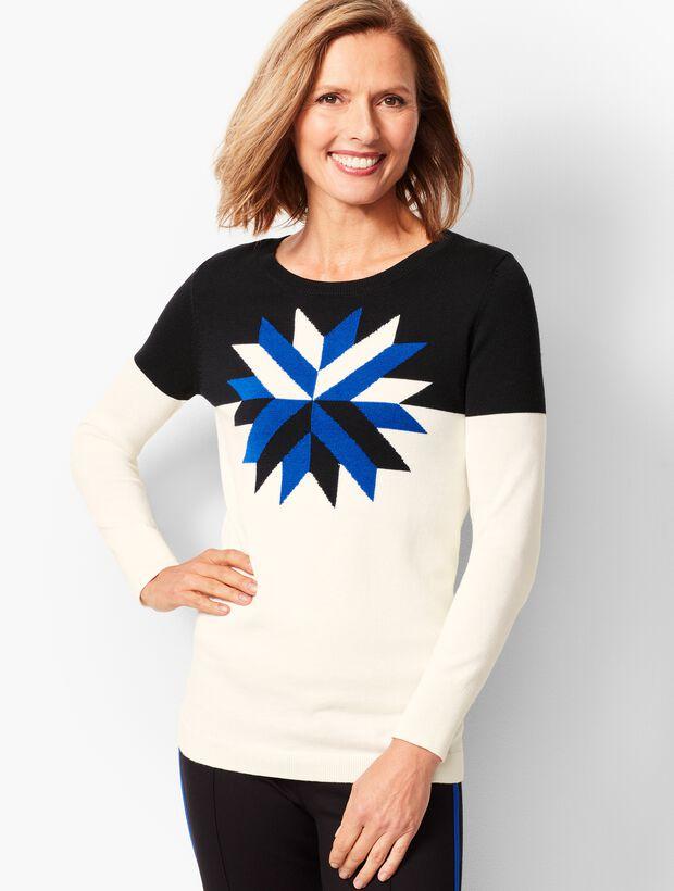 Intarsia Crewneck Sweater