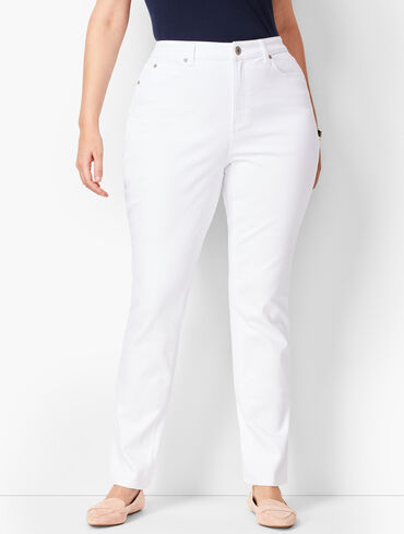 Plus Size High-Waist Straight-Leg Jeans - Curvy Fit - White