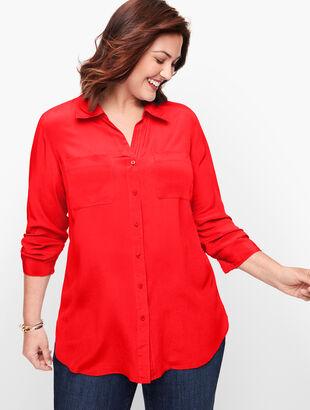 Washable Silk Camp Shirt