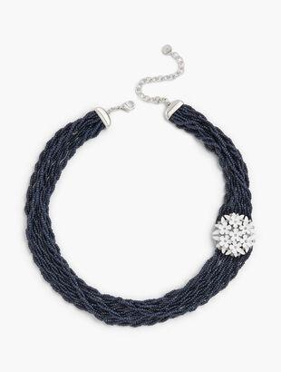 Beaded Daisy Torsade Necklace