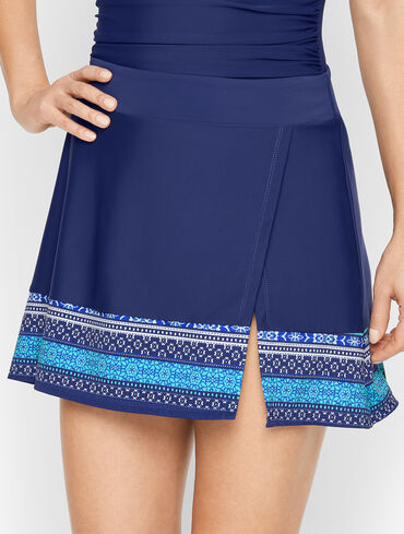 Cabana Life Side Slit Swim Skirt - Emblem