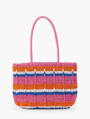 Straw Tote Bag - Stripe