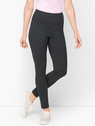 Textured Slip Pocket Leggings