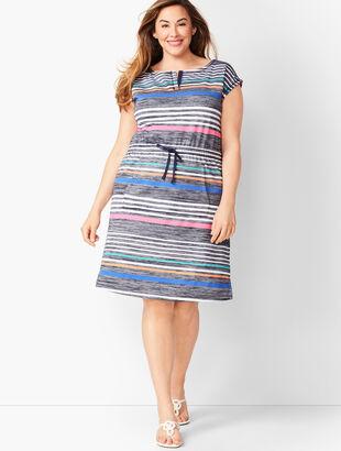 Multi-Color Stripe Shift Dress