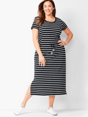 Sport Stripe Midi-Dress