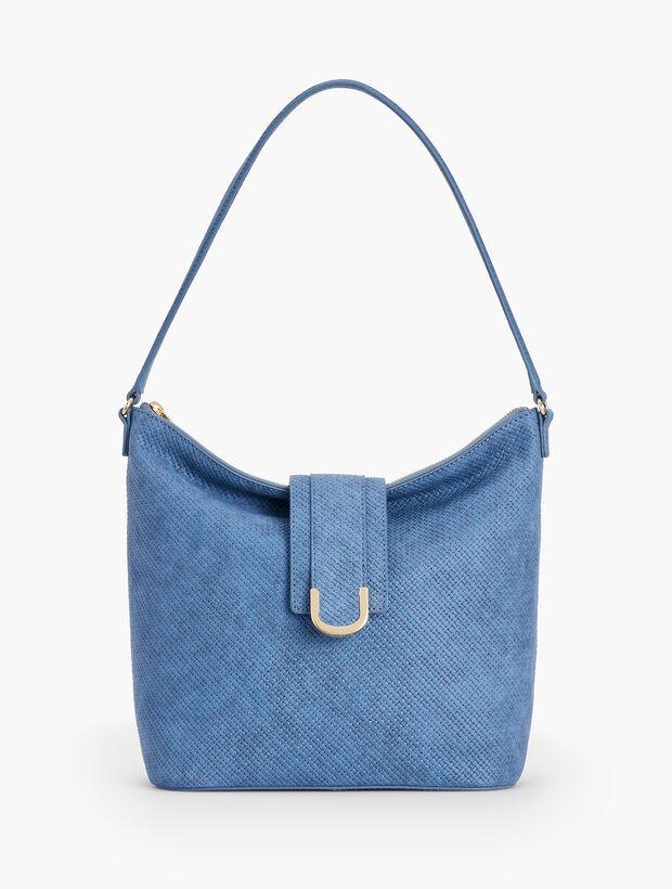 Woven Leather Hobo Bag