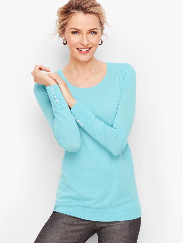 Gathered Shoulder Merino Sweater