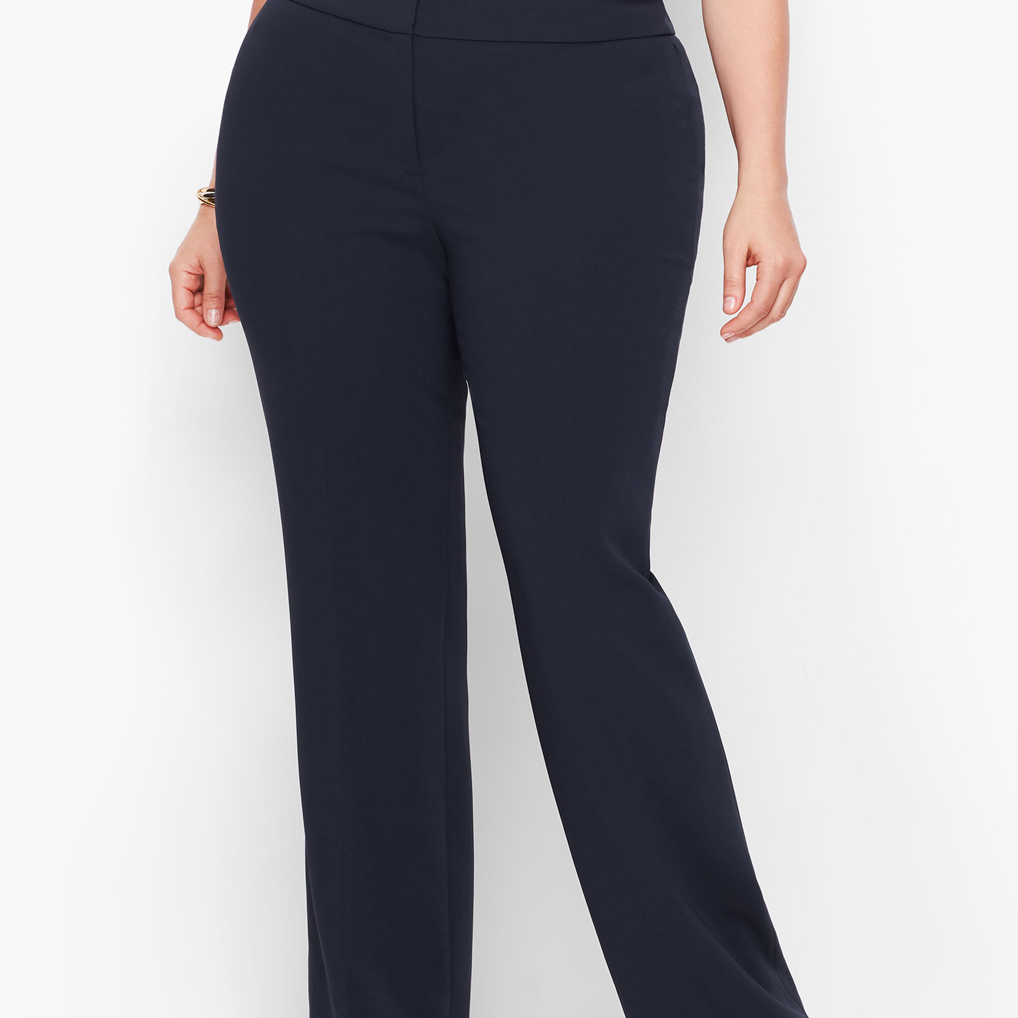 Plus Size Exclusive Easy Travel Wide Leg Pants   Talbots