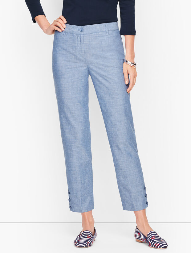 Perfect Crop Pants - Chambray