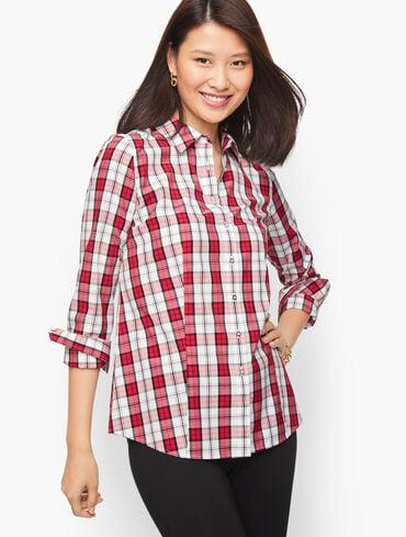 Button Front Shirt - Classic Plaid