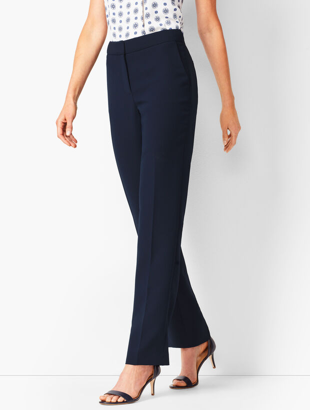 Seasonless Crepe Straight-Leg Pants