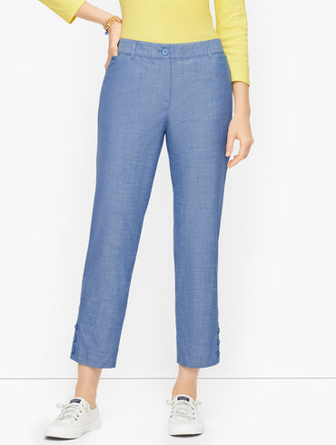 Perfect Crops - Chambray - Curvy Fit