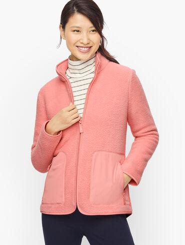 High-Low Cozy Sherpa Jacket
