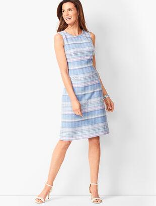 Stripe Tweed Shift Dress