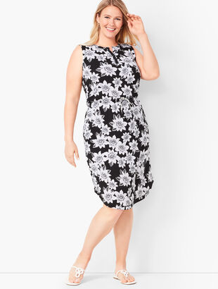 Floral Henley Midi Dress
