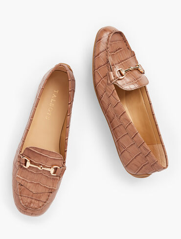 Everson Horsebit Embossed Leather Driving Moccasins
