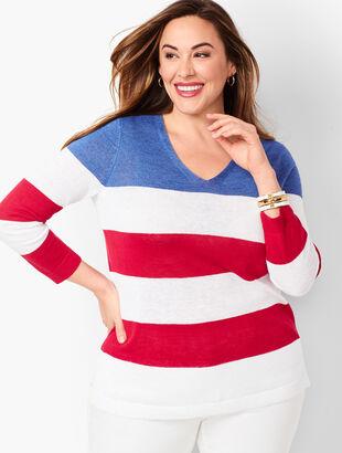 Flag Stripe Linen Sweater