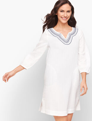 Embroidered Tunic Cover-Up