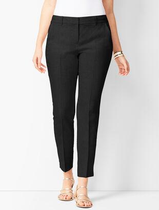 Linen Slim Ankle Pants - Curvy Fit
