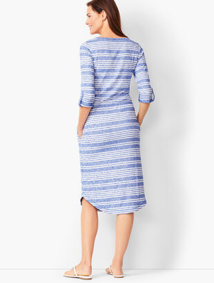 Stripe Henley Dress